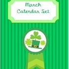 March Calendar -Set of Three Patterns