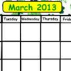 March Calendar White board