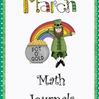March Everyday Math Journals Printable