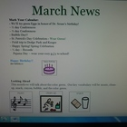 March Interactive Newsletter with Boardmaker symbols for n