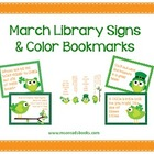 March Library Signs & Bookmarks