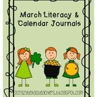 March Literacy Journal &amp; Calendar Journal