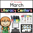 March Literacy Menu 1st Grade