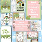 March MEGA BUNDLE St. Patrick's Day and Easter Vocabulary