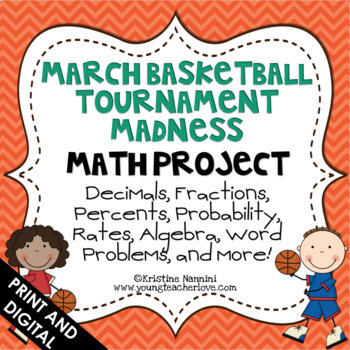March Madness Basketball Tournament Math Project {Common C