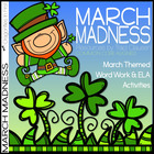 March Madness Word Work and Activity Pack