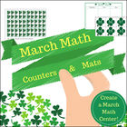March Math Cards, Counters and Mats (St Patrick's Day theme)