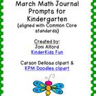 March Math Journal Prompts (aligned with CC standards)