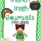 March Math Journals {First Grade}