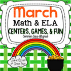 March Math and Literacy Centers - 12 CCSS Centers