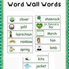 March Pocket Chart Words Word Wall
