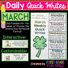 Writing - March Quick Writes - Common Core Writing Practic