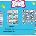 March Smartboard Calendar Math