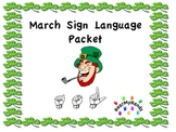 March St Patty's Sign Language Packet