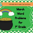 March Word Problems for 1st Grade