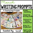 March Writing Pages for Class Share Time