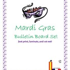 Mardi Gras Bulletin Board Set!