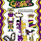 Mardi Gras Celebration- Clip Art Set-22 Pieces Commercial Use