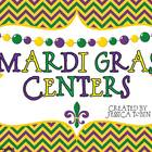 Mardi Gras Centers {5 Literacy and 5 Math}