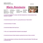 """Marie Antoinette"" Movie Study Guide Questions"