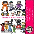 Marsha's winter games bundle by melonheadz black and white