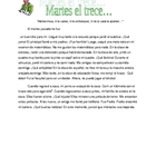Martes Trece Short Story Reading in Preterite Tense