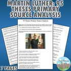 Martin Luther 95 Theses Primary Source Analysis (Reformation)