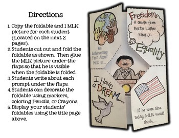 Martin Luther King Day MLK Foldable Pack *Freebie*