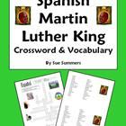Martin Luther King Day Spanish Vocabulary Crossword and Word List