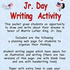 Martin Luther King Day Writing Activity- 2nd 3rd 4th Grades
