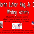 Martin Luther King Day Writing Activity- Kindergarten or F