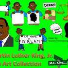 Martin Luther King Jr. Clip Art Collection-Commercial Use