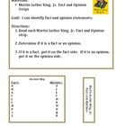 Martin Luther King, Jr. Fact and Opinion File Folder Game