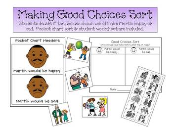 Martin Luther King, Jr - Graphing Good Choices Printable