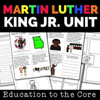 Martin Luther King Jr. Mini-Book / Close Read and Unit [Ed