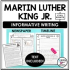 Martin Luther King Jr. Nonfiction Newspaper Writing Activi