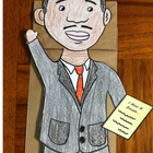 Martin Luther King Jr. Paper Bag Puppet