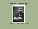 Martin Luther King, Jr. Power Point