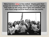 Martin Luther King Jr. Powerpoint with pictures from museu
