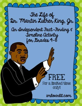 Martin Luther King, Jr. Timeline Activity for 4-8: FREE fo