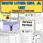 Martin Luther King, Jr. Unit from Teacher&#039;s Clubhouse