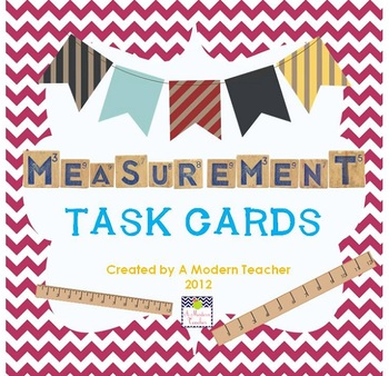 Marvelous Math Measurement Task Cards, 2nd, 3rd