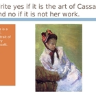 Mary Cassatt Power Point Assessment