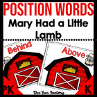 Mary Had a Little Lamb Position Words Teaching and Center Cards