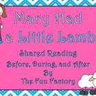 Mary Had a Little Lamb Shared Reading Lessons