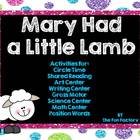 Mary Had a Little Lamb Unit, Shared Rdng, Math, Science, A