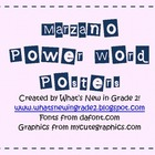 Marzano Power Words Posters