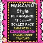 Marzano Style Performance Scales Kindergarten Pack