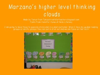 Marzano's higher level thinking clouds