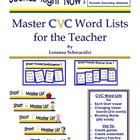 Master CVC Word Lists for the Teacher